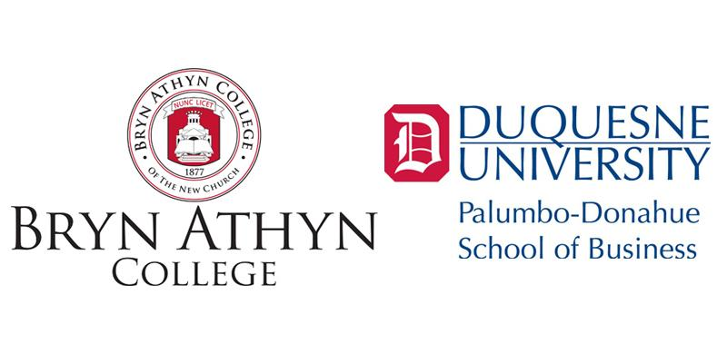 Logos of both Bryn Athyn College and Dusquesne University
