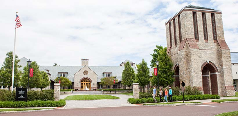 Bryn Athyn College Brickman Admissions Center front view